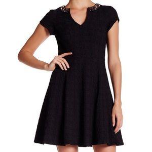 Nanette Lepore Day Dream Black Fit & Flare Dress